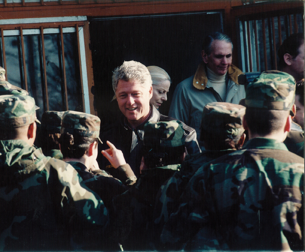 President Clinton in Taszar