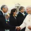 Donald greeting Pope John Paul II