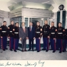 With Secretary of Defense Perry and Marine Guard