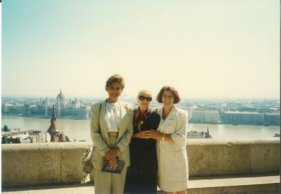 With Janet Langhart Cohen and wife of Hungarian Minister of Defense