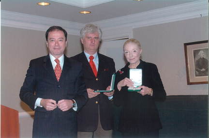 Receiving the Middle Cross of the Republic of Hungary