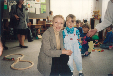 Vera with Bosnian child