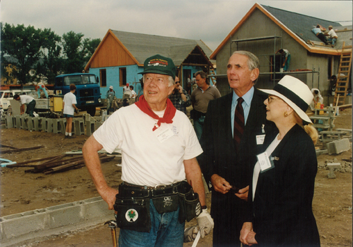 With President Jimmy Carter at Habitat